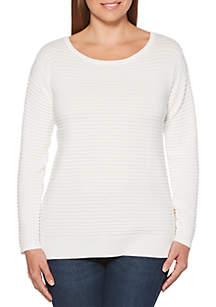 Petite Crew Neck Pullover Sweater