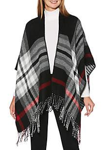 Petite Blanket Fringe Cape