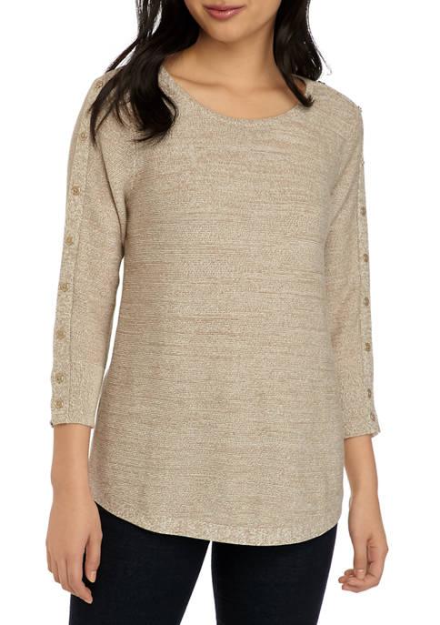 Petite Fashion Textured Sweater