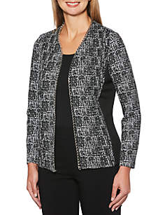 Petite Jacket with Solid Pointe