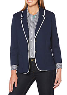 Petite Blazer with Trimming