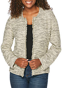 Petite Knit Tweed Jacket