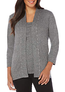 Petite Size Open Front Cardigan