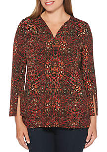 Petite Abstract Leaves Top