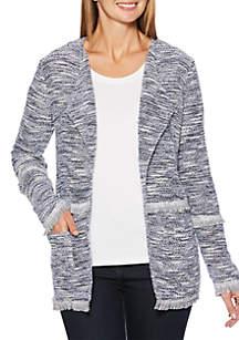 Petite Knit Tweed Jacket