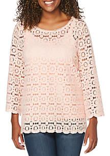 Rafaella Petite Lace Knit Top