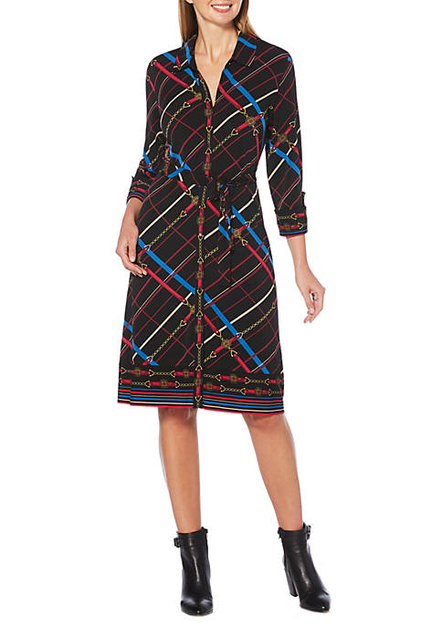 Rafaella Petite Plaid Shift Dress
