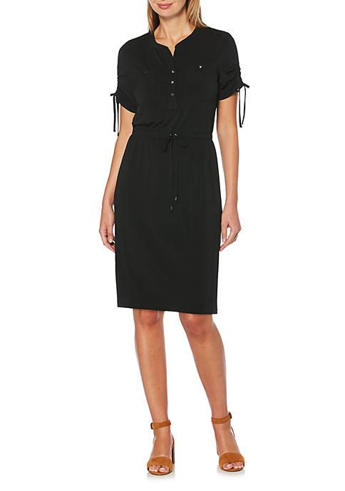 Rafaella Petite Solid Shirt Dress