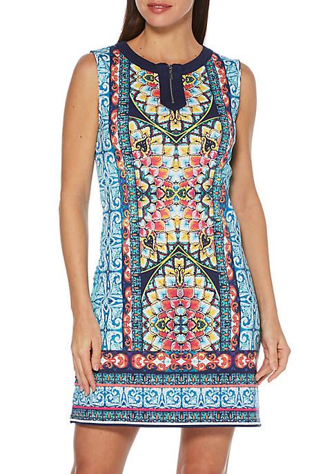 Petite Tile Placement Mini Dress