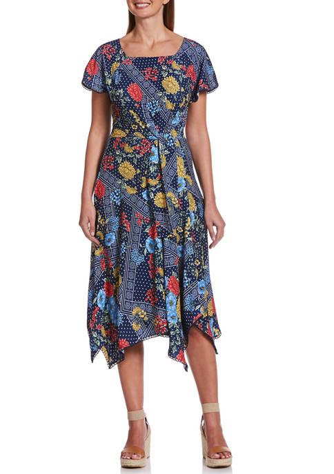Rafaella Petite Fashion Floral Patchwork Dress