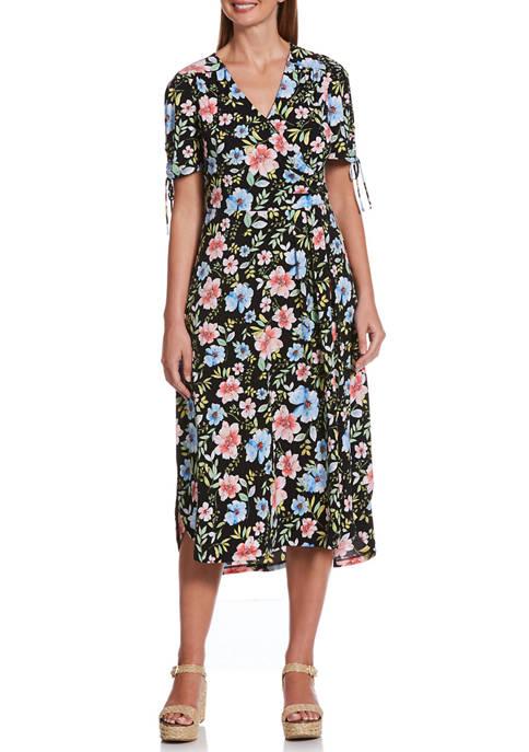 Rafaella Petite Fashion Cambria Floral High-Low Midi Dress