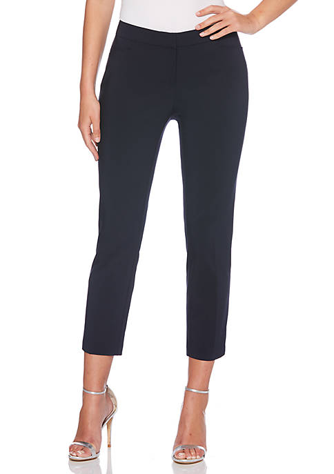 Satin Twill Ankle Pants