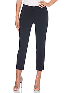 Satin Twill Ankle Pant