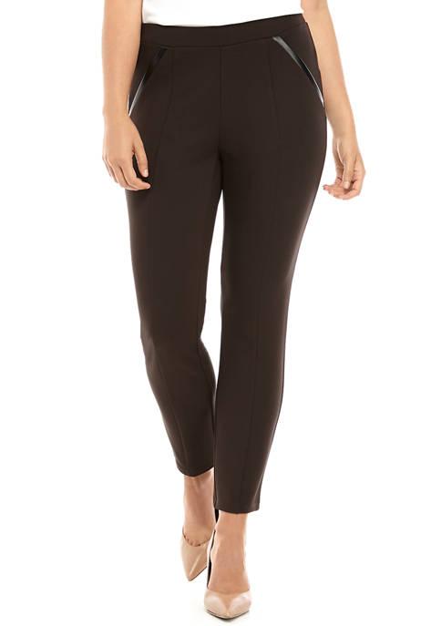 Rafaella Womens Comfort Fit Short Ponte Pants