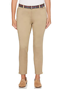 Modern Fit Zip Ankle Pants