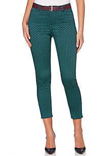 Foulard Printed Modern Zip Pants
