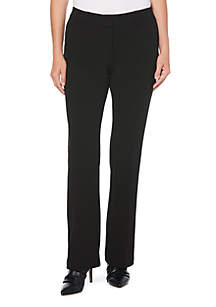 Solid Stretch Crepe Pants