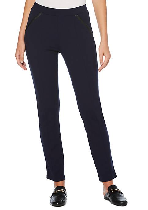 Rafaella Womens Ponte Comfort Fit Slim Pants