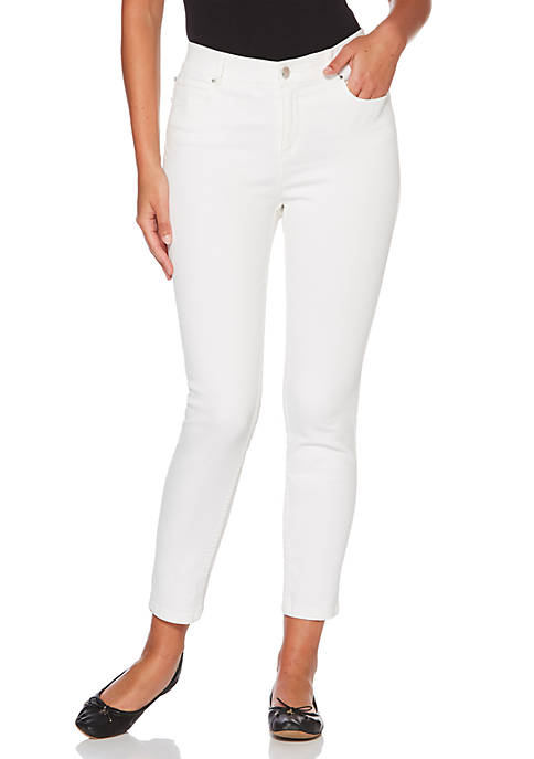 Rafaella White Denim Ankle Pants