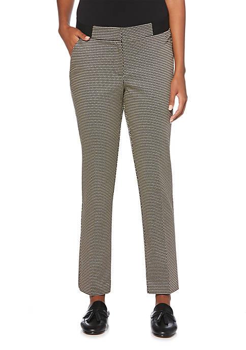 Rafaella Diamond Print Sateen Skinny Pants