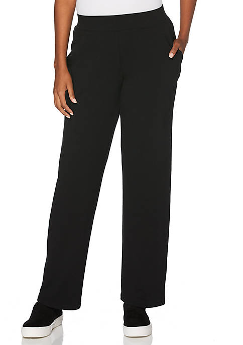 Rafaella Solid French Terry Pull-On Pants