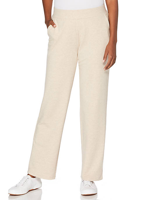 Solid French Terry Pull-On Pants