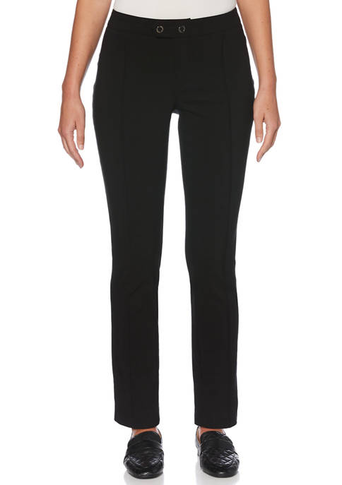 Womens Fly Front Double Ring Closure Pants