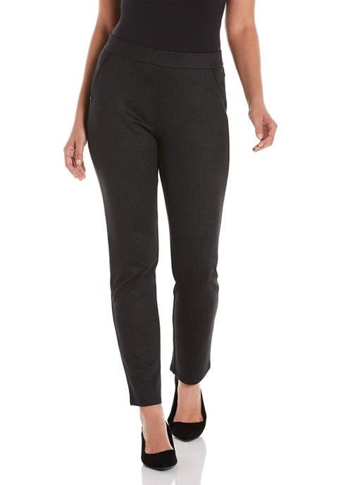 Womens Bi-Color Pattern Ponte Pants
