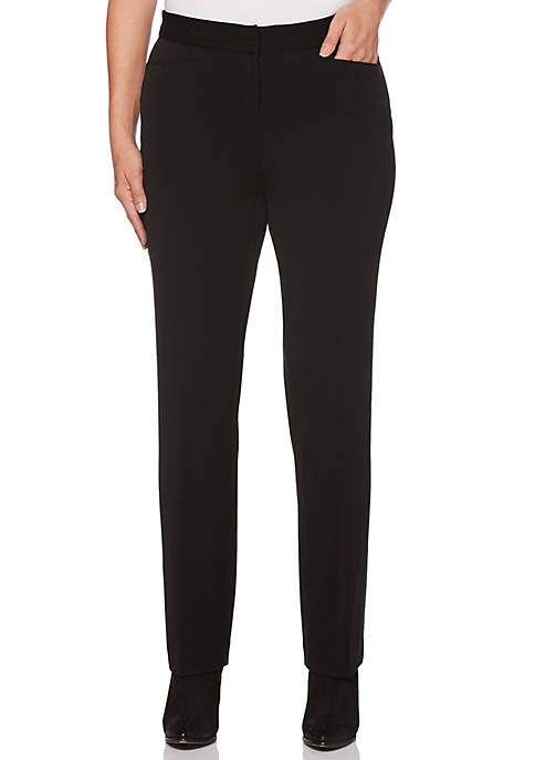 Rafaella Womens 2Way Gab Classic Fit Pants