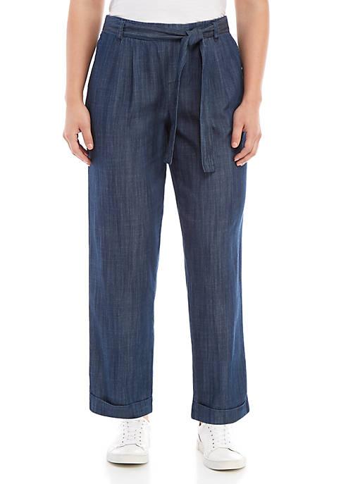 Indigo Tencel® Tapered Pants
