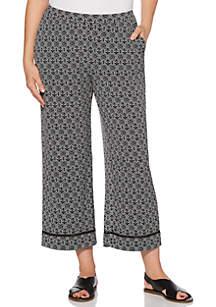 Rafaella Rope Geo Crop Pants