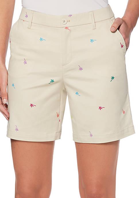 Rafaella Tiny Palms Chino Shorts