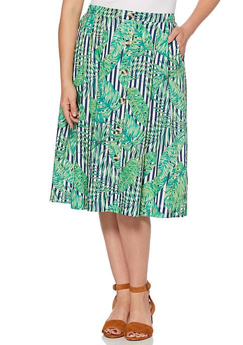 Tropical Leaves Skirt