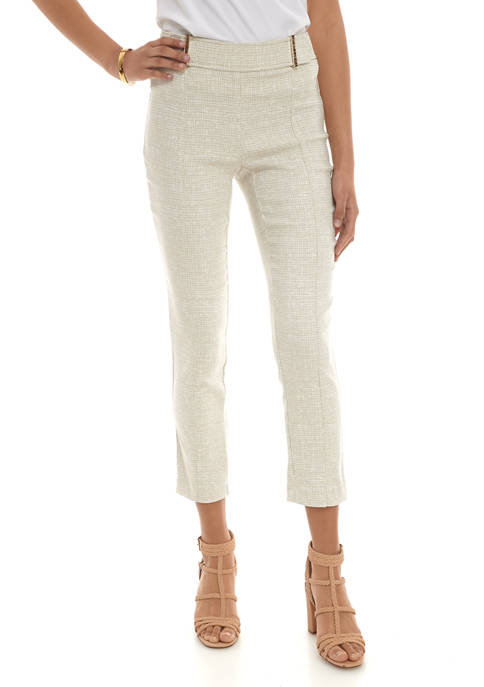 Womens Jacquard Ankle Pants