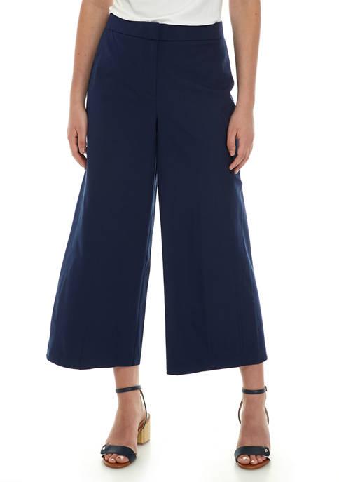 Womens Bi Stretch Wide Leg Cropped Jeans