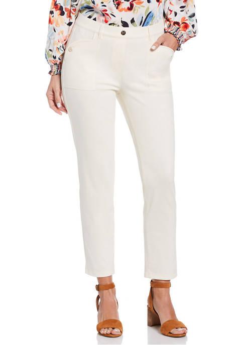 Rafaella Womens Pull On Super Stretch Twill Pants