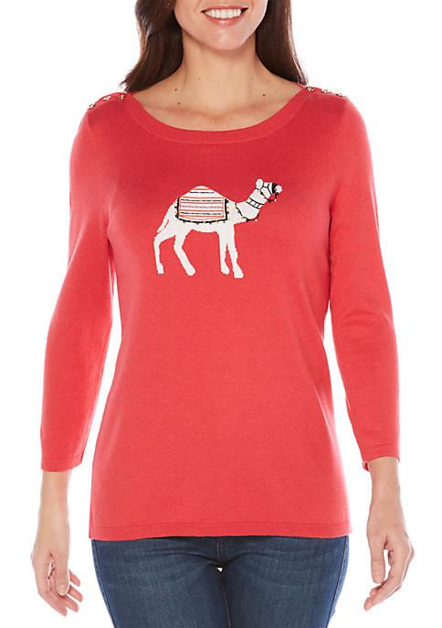Weekend Camel Sweater