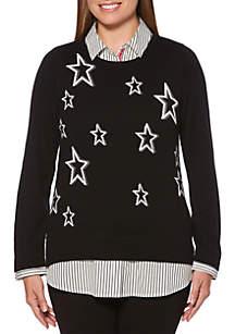 Long Sleeve 2Fer Sweater