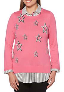 Rafaella Long Sleeve 2Fer Sweater