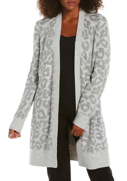 Womens Leopard Duster Cardigan