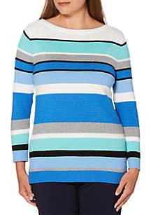 Rafaella Stripe Sweater