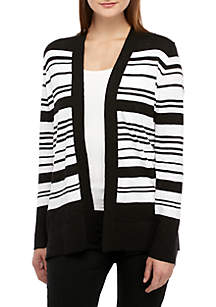 Rafaella Yarn Stripe Cardigan
