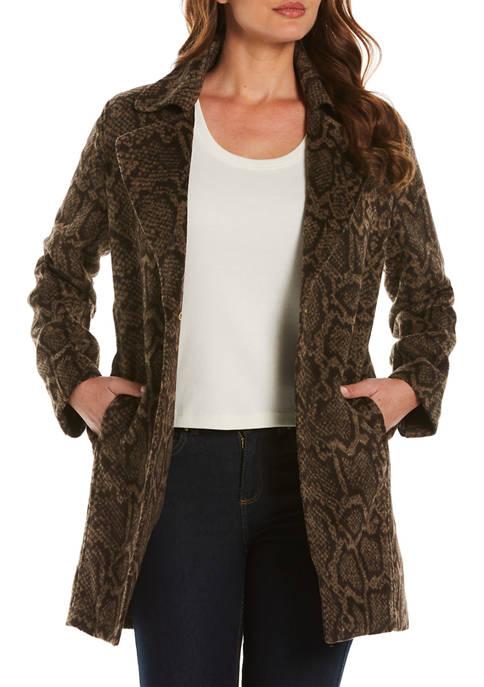 Womens Animal Plush Jacket