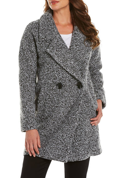 Womens Collared Knit Coat