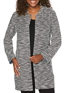 Rope Tweed Long Jacket