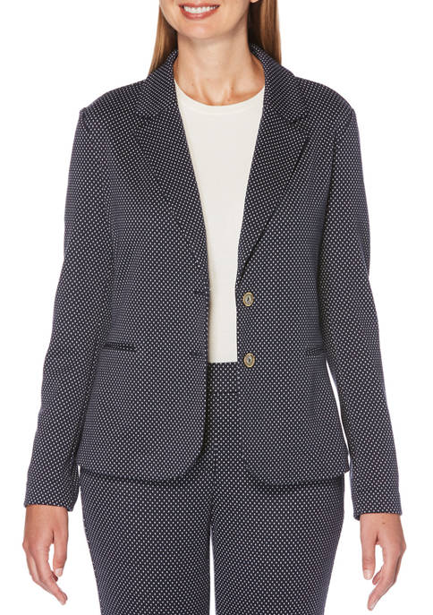 Womens Long Sleeve Textured Blazer
