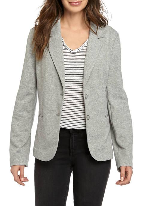 Womens Long Sleeve Knit Blazer