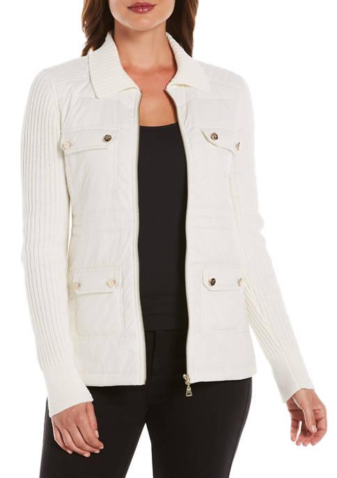 Womens Long Sleeve Puffer Jacket