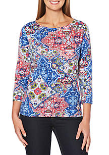 Rafaella Ornate Diamond Printed Top