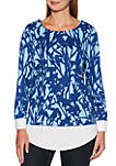 Printed Floral Sweater